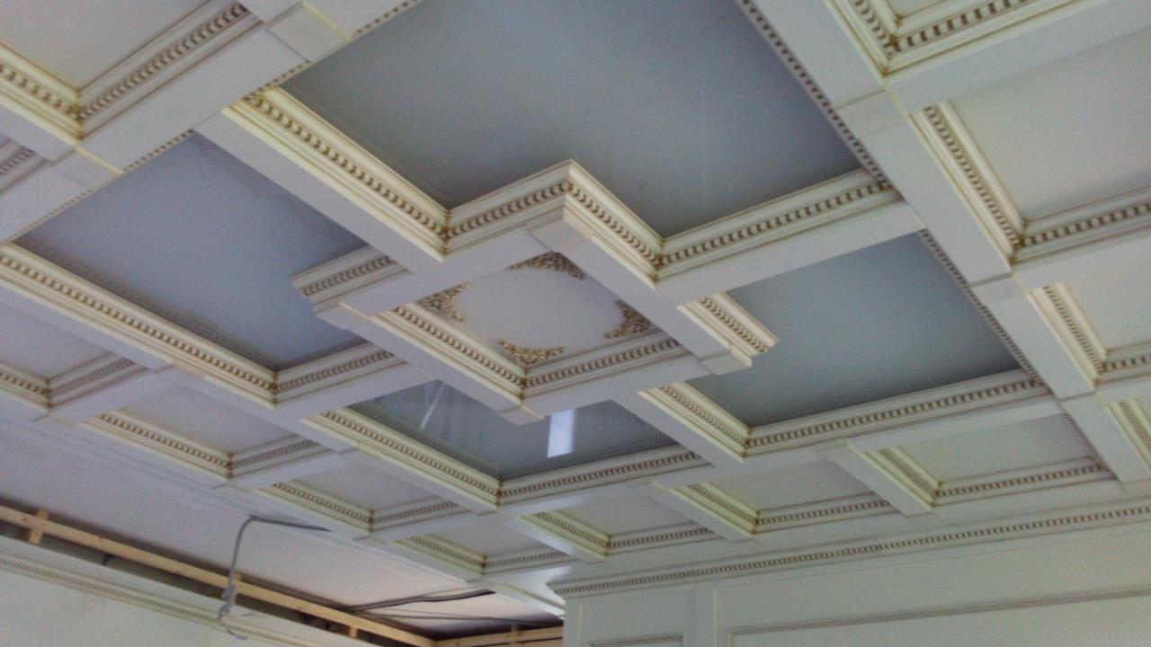 потолки кессонные фото